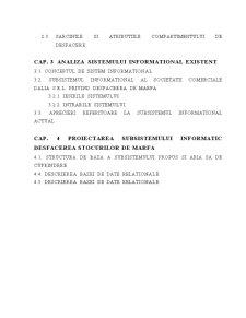 Realizarea unui Subsistem Informatic pentru Desfacerea Stocurilor de Marfuri la SC Dalia SRL - Pagina 3