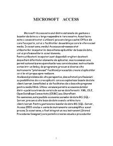 Modul Microsoft Access - Pagina 2
