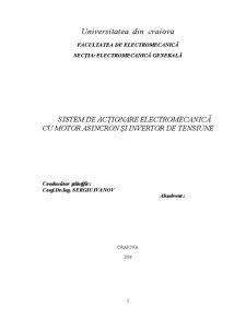 Sistem de Acționare Electromecanică cu Motor Asincron și Invertor de Tensiune - Pagina 2