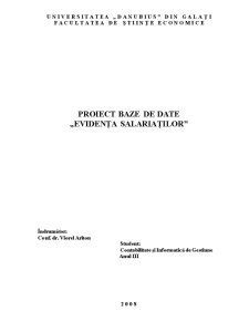 Evidenta Salariatilor - Access - Pagina 1