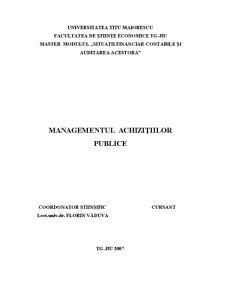 Managementul Achizițiilor Publice - Pagina 1