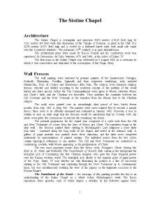 The Sistine Chapel - Pagina 1