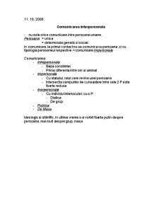 Comunicare Interpersonala - Pagina 1