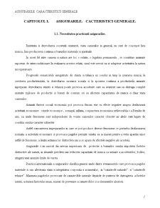 Asigurarile - Caracteristici Generale - Pagina 1