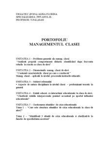 Managementul Clasei - Pagina 1