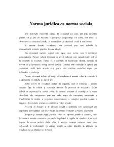 Norma Juridica ca Norma Sociala - Pagina 1