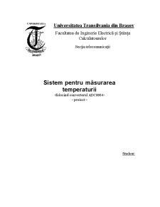 Sistem Pentru Măsurarea Temperaturii - Pagina 1