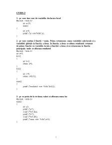 Programare C - Pagina 1