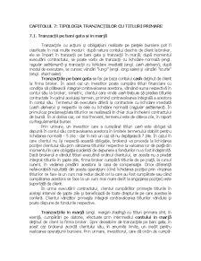 Tipologia Tranzacțiilor cu Titluri Primare - Pagina 1