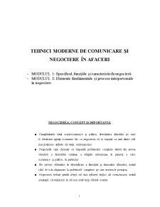 Tehnici Moderne de Comunicare și Negociere în Afaceri - Pagina 1