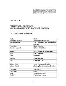 Studiul Cursului Actiunilor Societatii Banca Transilvania SA la Bursa de Valori Bucuresti - Pagina 5