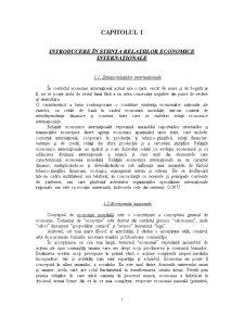 Relații Economice Internaționale - Pagina 1