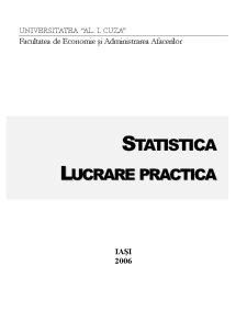 Lucrare Practica - Statistica - Pagina 1