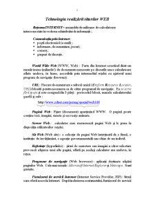 Realizarea Site-urilor Web - Pagina 1