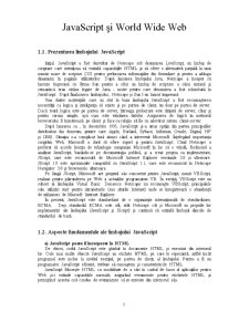 Javascript și World Wide Web - Pagina 1