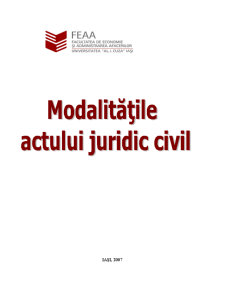 Modalitățile Actului Juridic Civil - Pagina 1