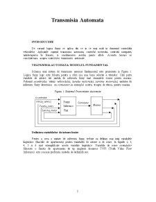 Transmisia Automata a Autovehiculelor - Pagina 2