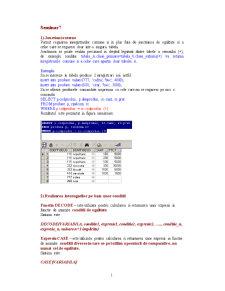 Sisteme de Gestiune a Bazelor de Date - 7 - Pagina 1