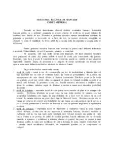 Gestiunea Riscurilor Bancare - Cadru General - Pagina 1