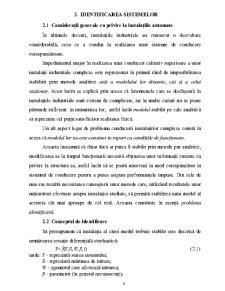 Identificarea Sistemelor - Pagina 1
