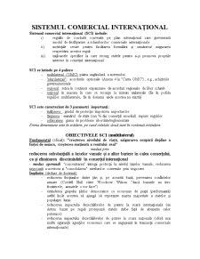 Sistemul Comercial Internațional - Pagina 1