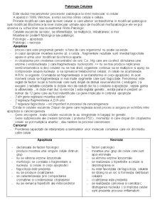 Patologie Celulara - Pagina 1