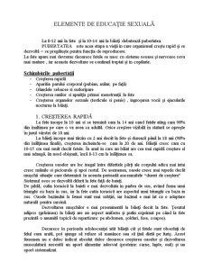 Elemente de Educatie Sexuala - Pubertatea - Pagina 1