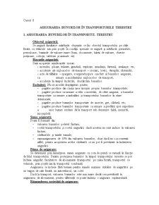 Asigurarea Bunurilor în Transporturile Terestre - Pagina 1