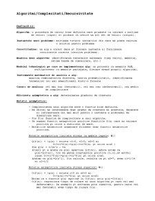 Algoritmi - Pagina 1