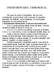 Instrumentarul Chirurgical - Pagina 1