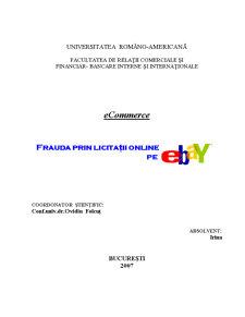 eCommerce - Frauda prin Licitatii Online pe eBay - Pagina 1