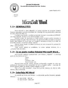 Curs Birotica - Pagina 1