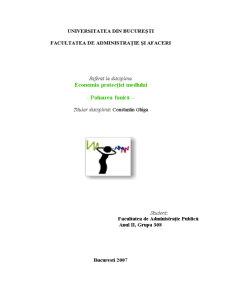 Economia Protecției Mediului - Poluarea Fonică - Pagina 1