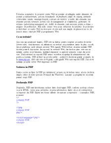 Mini-Curs PHP - Pagina 2