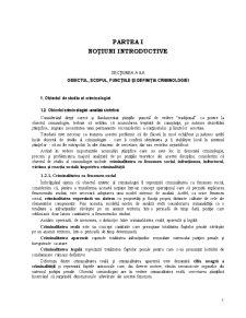 Criminologie Curs Notiunile Introductive - Pagina 1