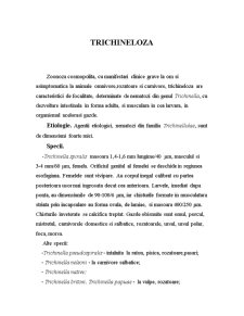 Trichineloza-Zoonoza - Pagina 1