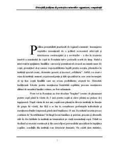 Directiile Judetene de Protectie a Minorilor Organizare, Competenta - Pagina 1