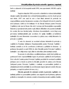 Directiile Judetene de Protectie a Minorilor Organizare, Competenta - Pagina 2