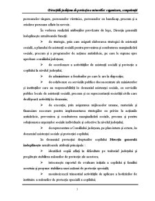 Directiile Judetene de Protectie a Minorilor Organizare, Competenta - Pagina 3