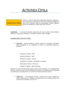 Procesual Civil - Actiunea Civila - Pagina 1