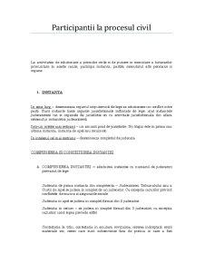 Participantii in Procesul Civil - Pagina 1