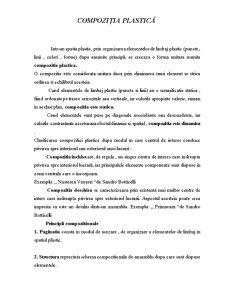 Compoziția Plastică - Pagina 1