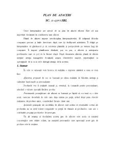 Plan de Afaceri - SC S-Gift SRL - Pagina 1