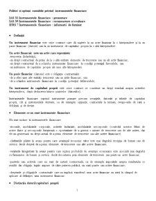 Politici si Optiuni Contabile privind Instrumentele Financiare - Pagina 1
