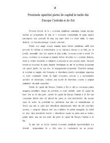 Caracteristicile Pietei de Capital in Europa Centrala si de Est - Pagina 1