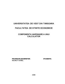 Componenta Hardware a unui Calculator - Pagina 1