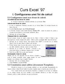 Curs Excel '97 - Pagina 1