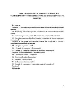 Obligațiunile și Remediile Juridice ale Vânzătorului în Contractul de Vânzare Internațională de Mărfuri - Pagina 1