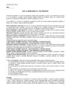 IAS 12 - Impozitul pe Profit - Pagina 1