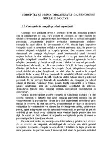 Corupția și Crima Organizată ca Fenomene Sociale Nocive - Pagina 1